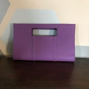 Purple Clutch with Handle